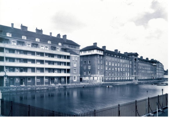 View acrossCumberland Market Basin towards Ascot House and Swinley House