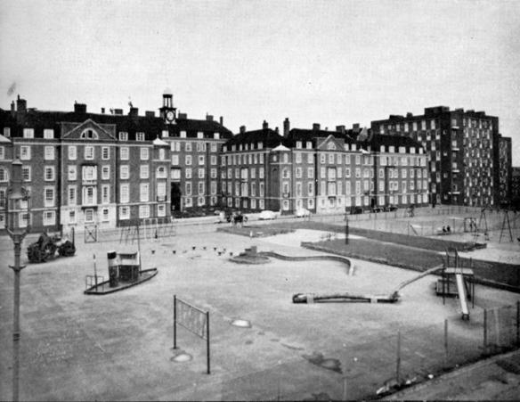 Cumberland Market north side towards Windsor House - 1950s