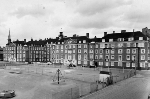 1950s south-side view towards Windsor House